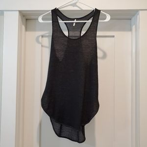 Thesics Black Mesh Tank Top, Small, Excellent
